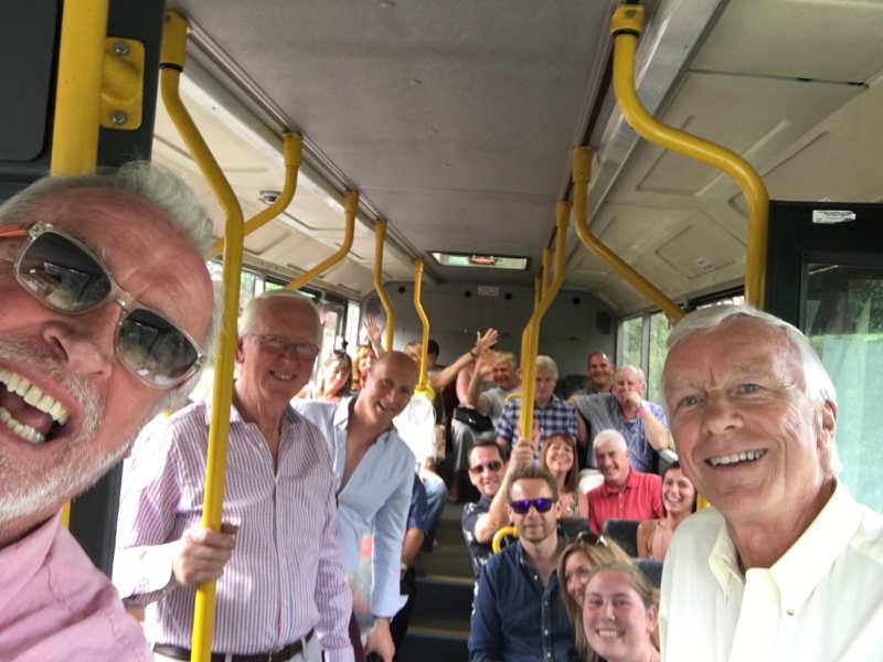 Shuttle bus selfie